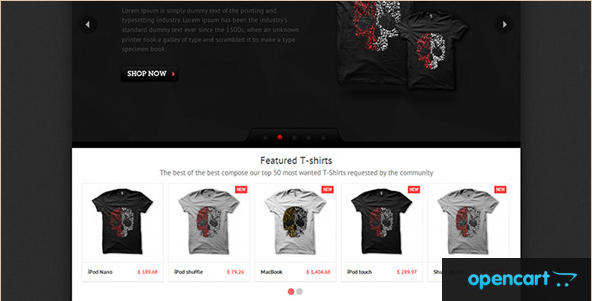T-shirts - OpenCart Template