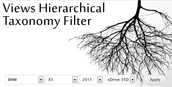 Views Hierarchical Taxonomy Filter