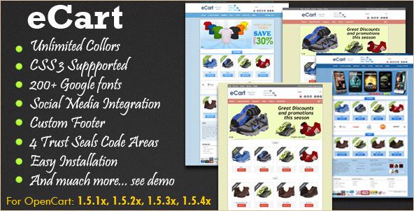 eCart - OpenCart Template