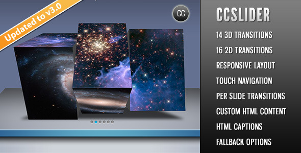 CCSlider - jQuery 3d Slideshow Plugin