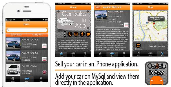 Car Sale in App