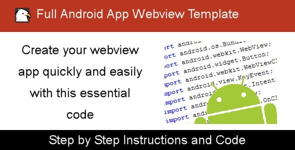 Full Android App Webview Template
