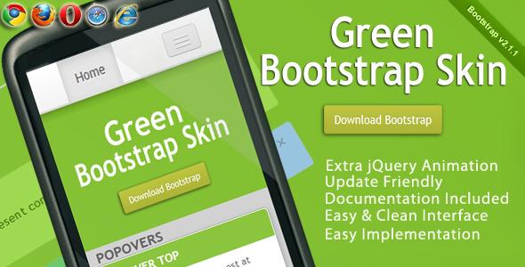 Green Bootstrap Skin