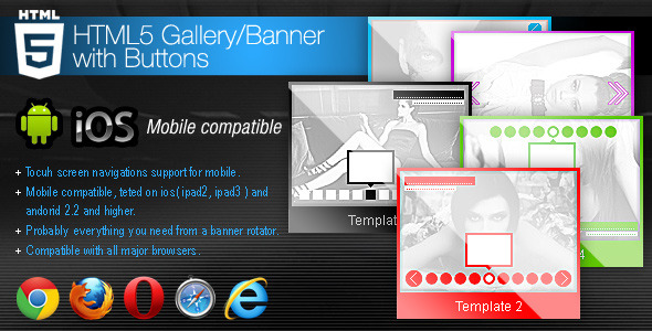 HTML5 Gallery - Banner With Buttons