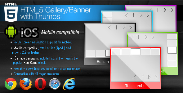 HTML5 Gallery - Banner with Thumbs