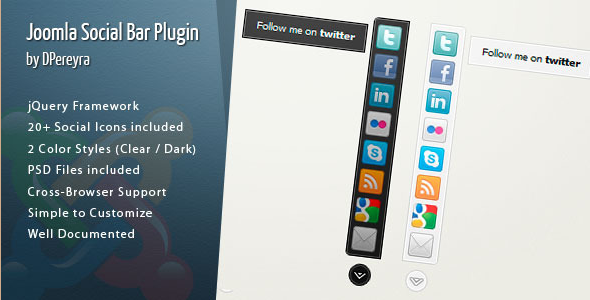 Joomla Social Bar Plugin