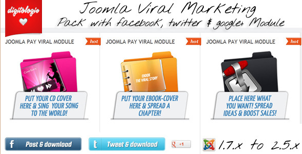 Joomla Viral Marketing - Viral Payment Pack