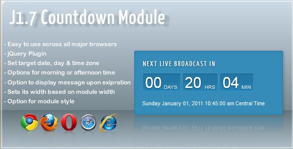 Live Broadcast Countdown Module
