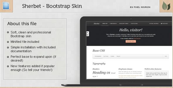Sherbert - Bootstrap Skin