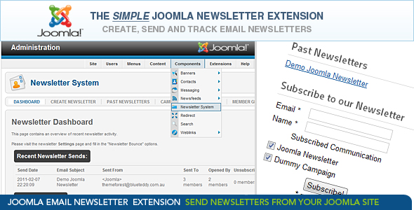 Simple Joomla Newsletter Extension