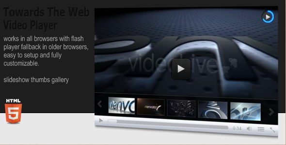 New html5 plugins 2013 for Html5 video player template