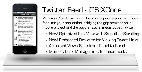 Twitter Feed - iOS XCode Project