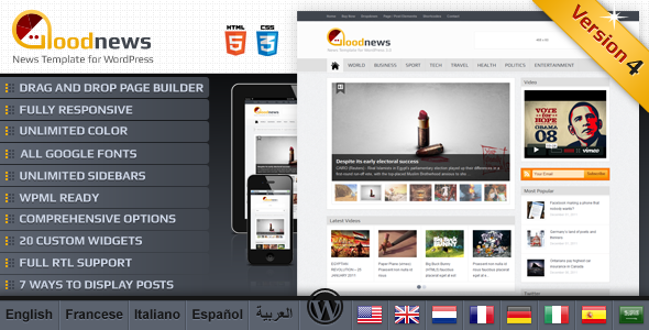 GoodNews Premium WordPress News Theme