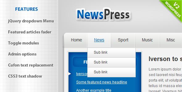 NewsPress - WordPress