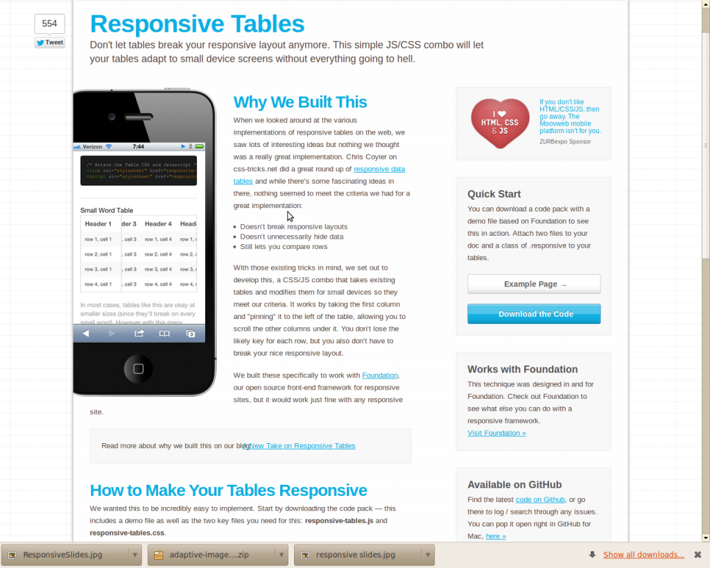 Top 10 apps for responsive web designing for Responsive table