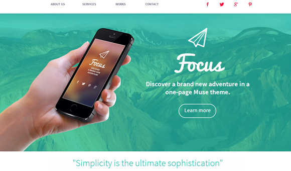 20 fresh and good looking Adobe Muse themes
